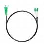 Шнур оптический dpc LC/APC-SC/APC9/125 3.0мм 3м черный LSZH (патч-корд)