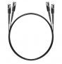 Шнур оптический dpc MU/UPC-MU/UPC 9/125 2.0мм 1м черный LSZH (патч-корд)