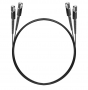 Шнур оптический dpc MU/UPC-MU/UPC 9/125 2.0мм 5м черный LSZH (патч-корд)