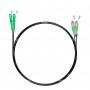 Шнур оптический dpc SC/APC-FC/APC 9/125 3.0мм 1м черный LSZH (патч-корд)