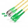 Шнур оптический dpc SC/APC-FC/APC 9/125 3.0мм 1м LSZH (патч-корд)