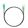 Шнур оптический dpc SC/APC-FC/APC 9/125 3.0мм 5м черный LSZH (патч-корд)