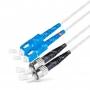 Армированный шнур оптический dpc SC/UPC-ST/UPC 9/125 2.0мм 1м LSZH (патч-корд)