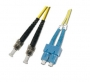 Шнур оптический dpc SC/UPC-ST/UPC 9/125 3.0мм 15м LSZH (патч-корд)