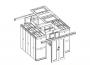 Фальш панель 200мм для крыши секции коридора шириной 600мм (комплект 2шт)