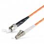 Шнур оптическийspc LC/UPC-ST/UPC50/125 3.0мм 3м LSZH (патч-корд)