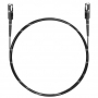 Шнур оптический spc MU/UPC-MU/UPC 50/125 2.0мм 5м черный LSZH (патч-корд)