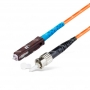 Шнур оптическийspc MU/UPC-ST/UPC50/125 2.0мм 3м LSZH (патч-корд)