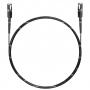 Шнур оптический spc MU/UPC-MU/UPC 50/125 ОМ3 2.0мм 1м черный LSZH (патч-корд)