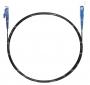 Шнур оптический spc E2000/UPC-SC/UPC62.5/125 3.0мм 2м черный LSZH (патч-корд)