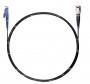 Шнур оптический spc E2000/UPC-ST/UPC62.5/125 3.0мм 2м черный LSZH (патч-корд)