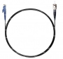 Шнур оптический spc E2000/UPC-ST/UPC62.5/125 3.0мм 5м черный LSZH (патч-корд)