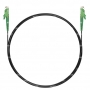 Шнур оптический spc E2000/APC-E2000/APC 9/125 3.0мм 5м черный LSZH (патч-корд)