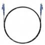 Шнур оптический spc E2000/UPC-E2000/UPC 9/125 3.0мм 2м черный LSZH (патч-корд)