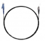 Шнур оптический spc E2000/UPC-FC/UPC9/125 3.0мм 1м черный LSZH (патч-корд)