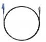 Шнур оптический spc E2000/UPC-FC/UPC9/125 3.0мм 3м черный LSZH (патч-корд)