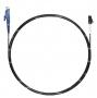 Шнур оптический spc E2000/UPC-LC/UPC9/125 3.0мм 2м черный LSZH (патч-корд)