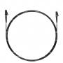 Шнур оптический spc LC/APC-LC/APC 9/125 3.0мм 1м черный LSZH (патч-корд)