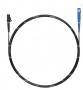 Шнур оптический spc LC/APC-SC/APC9/125 3.0мм 2м черный LSZH (патч-корд)