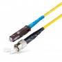 Шнур оптическийspc MU/UPC-ST/UPC9/125 2.0мм 15м LSZH (патч-корд)