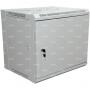 """19"""" настенный шкаф """"ПРЕМИУМ"""" с металлической дверью 6U 600x450x370 мм - боковые стенки съемные (разобранный) RAL 9005"""
