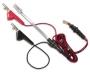 """Линейный кабель для тестовой тлф. Трубки TS22/TS25D с разъемом """"крокодил"""" с контактами под углом и иглой для прокола изоляции и вилкой RJ11"""