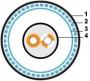 Кабель для шины ProfiBus FC, 1х2х22 AWG SFTP, в ПВХ-оболочке Hyperline
