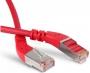 Патч-корд F/UTP угловой, экранированный, левый 45°-левый 45°, Cat.6a, LSZH, 1 м, красный Hyperline