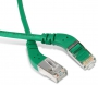 Патч-корд F/UTP угловой, экранированный, левый 45°-правый 45°, Cat.6a, LSZH, 1 м, зеленый Hyperline