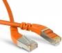 Патч-корд F/UTP угловой, экранированный, правый 45°-правый 45°, Cat.6a, LSZH, 1 м, оранжевый Hyperline