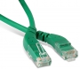 Патч-корд U/UTP угловой, левый 45°-левый 45°, Cat.6, LSZH, 2 м, зеленый Hyperline