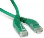 Патч-корд U/UTP угловой, левый 45°-правый 45°, Cat.6, LSZH, 1 м, зеленый Hyperline