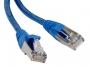 Патч-корд F/UTP, экранированный, Cat.5e, LSZH, 0.5 м, синий Hyperline