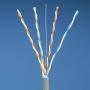 Кабель витая пара, экранированная F/UTP, категория 5e, 4 пары (24 AWG), одножильный (solid), экран - фольга, PVC, -20°C - +60°C, светло-серый, 305м. PANDUIT