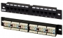 """Патч-панель 10"""", уст. размер 254 мм, 12 портов RJ-45, категория 5e, Dual IDC Hyperline"""