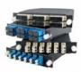 Претерминированная оптическая кассета, 6 дуплексных портов LC/PC для многомодового кабеля, синий корпус/порты цвет аква Hyperline