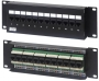 Патч-панель настенная c передним монтажом, 12 портов RJ-45(8P8C), категория 5e Hyperline