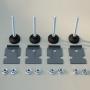 Ножки регулируемые, М12x100мм, 1 упаковка - 4шт. RAM Telecom DKC/ДКС