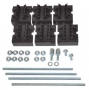 Набор держателей, для шин толщиной 5мм, 1-2 шины на полюс, 4 полюса DKC/ДКС
