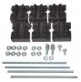 Набор держателей, для шин толщиной 5мм, 1-4 шины на полюс, 4 полюса DKC/ДКС