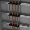 Рейка для шинодержателей, установка по ширине, Ш=400мм, 1 упаковка - 4шт. DKC/ДКС