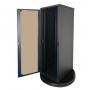 Шкаф телекоммуникационный серии Alpha, 42U, 1947х600х1000 мм, разборный, дверь со стеклом, черный AESP