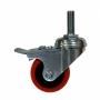"""Ролики 2"""" с тормозом (нагрузка на компл до 350 кг) шпилька М10 для шкафов серии Alpha и стоек (4 шт) AESP"""