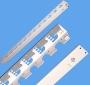 Вертикальный органайзер для открытых стоек, 45U, серый AESP