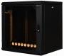 Шкаф настенный SignaPro™, 4U, 695х600х300 мм, антивандальный, откидная дверца, черный AESP