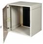 Шкаф настенный SignaPro™ 9U 504х600х660 мм, двухсекционный со съемными боковыми стенками, серый AESP
