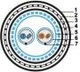 Кабель интерфейса RS-485/422, 2x(2x22 AWG STP) SFTP (SF/FTP), 120 Ом, защищен гидроизолирующей алюминиевой лентой,в двойной оболочке Hyperline