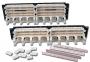 """19"""" 100-парная панель с 4-х парными модулями и кабельным органайзером Siemon"""