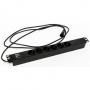 """Блок розеток для 19"""" шкафов, горизонтальный, 6 розеток Schuko (10A), 230 В, кабель питания 3х1.0мм2, длина 2.5 м, с вилкой IEC 320 C14, 482.6x44.4x44.4мм (ДхШхВ) Hyperline"""