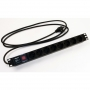"""Блок розеток для 19"""" шкафов, горизонтальный, с выключателем с подсветкой, 8 розеток Schuko (16A), кабель питания 3х1.5мм2, длина 2.5 м, с вилкой Schuko, 482.6x44.4x44.4мм (ДхШхВ) Hyperline"""